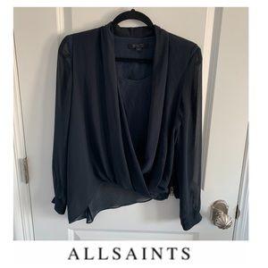 All Saints Navy Blouse